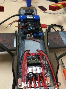 Control system mounted & power cables run for UAV